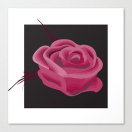 Pink Hue Single Rose Canvas Print