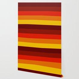 Multicolor Retro Strips Wallpaper