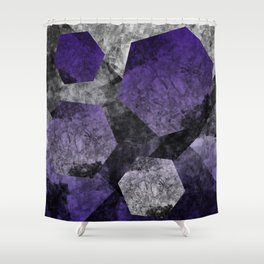 flatland (purple) Shower Curtain