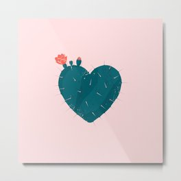 Cactus thorny heart Metal Print