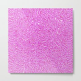 Light Pink Glitter Cheetah Print Metal Print