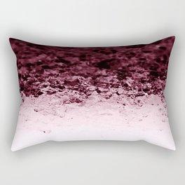 Burgundy CrYSTALS Ombre Gradient Rectangular Pillow