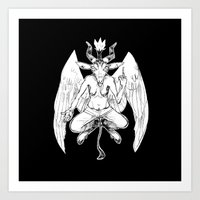 baphomet Art Prints featuring baphomet by musa