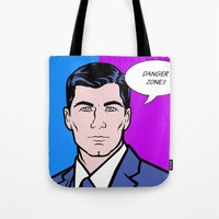 lichtenstein Tote Bags featuring Archer Lichtenstein by turantuluy