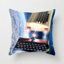 Commodore 64 versus Sinclair ZX Spectrum Throw Pillow
