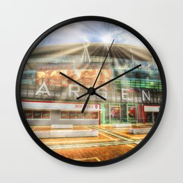 Arsenal Football Club Emirates Stadium London Sun Rays Wall Clock