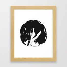 A fox Framed Art Print