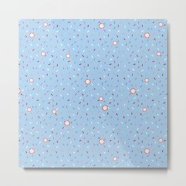 Confetti Shower Metal Print