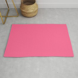 French Pink Solid Color Block Rug