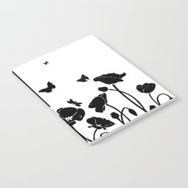 POPPIES AND BUTTERFLIES Notebook