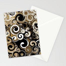 Coffee Swirls Stationery Cards
