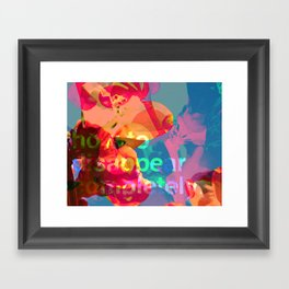 How to Disappear Completely Framed Art Print