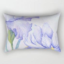 Watercolor Iris Rectangular Pillow