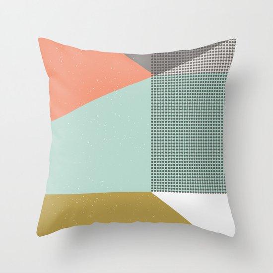 Farbe//Eight Throw Pillow
