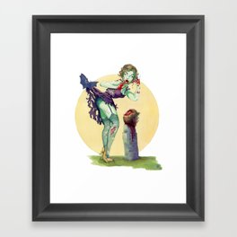 """Midnight Snack"" - Zombie Pin-up Framed Art Print"