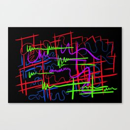 abstract neon splash Canvas Print