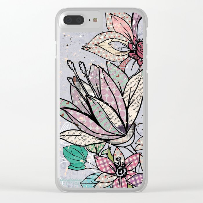 Paper Flowers #3 Clear iPhone Case