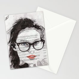 Honey - Portrait ink drawing Stationery Cards