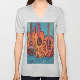 3 Guitars Unisex V-Neck