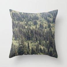 Mountain Trees Throw Pillow