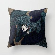 Alkonost Throw Pillow
