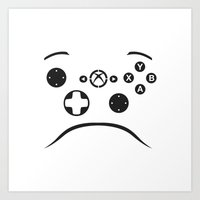 xbox Art Prints featuring Minimalist Xbox Controller Design by Christopher Goodwin