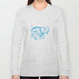 Blue elephat Long Sleeve T-shirt