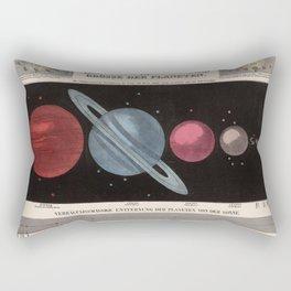 Vintage Solar System Size Comparison Chart (1855) Rectangular Pillow