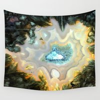 geode Wall Tapestries featuring Geode Fairyland - Inverted Art Series by Bella Mahri-PhotoArt By Tina