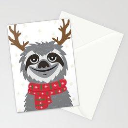 Sloth Reindeer Stationery Cards