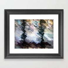 Swum big topspin looms. Framed Art Print