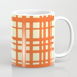 Orange and cream plaid Coffee Mug