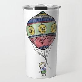 Boy with a Balloon Travel Mug