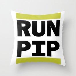 RUN PIP Throw Pillow