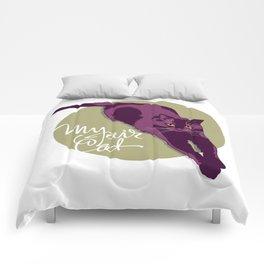 My fair cat in the purple Comforters
