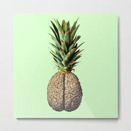 Pinebrain (pineapple) Metal Print
