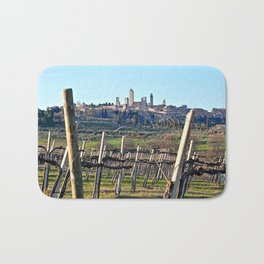 Tuscany's Town of Fine Towers Bath Mat