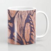 wesley bird Mugs featuring bird      by Amy Fan