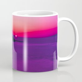 purple sunset in Fira Santorini Coffee Mug
