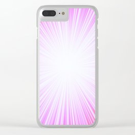 Pink Rays Clear iPhone Case