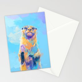 Mister Otter - Colorful Animal Portrait Stationery Cards