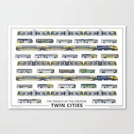 The Transit of the Greater Twin Cities Canvas Print