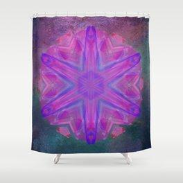 Jeweled splendor in vibrant pink Shower Curtain