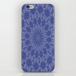 Blue and Mauve Abstract Kaleidoscope iPhone Skin