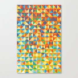 Triangles & Colors Canvas Print