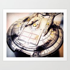 Battle Damaged Art Print