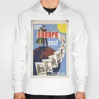 europe Hoodies featuring EUROPE by Kathead Tarot/David Rivera