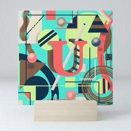 Letter U Mini Art Print