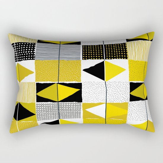 diamond pattern 034 Rectangular Pillow