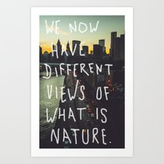 Different Views Art Print